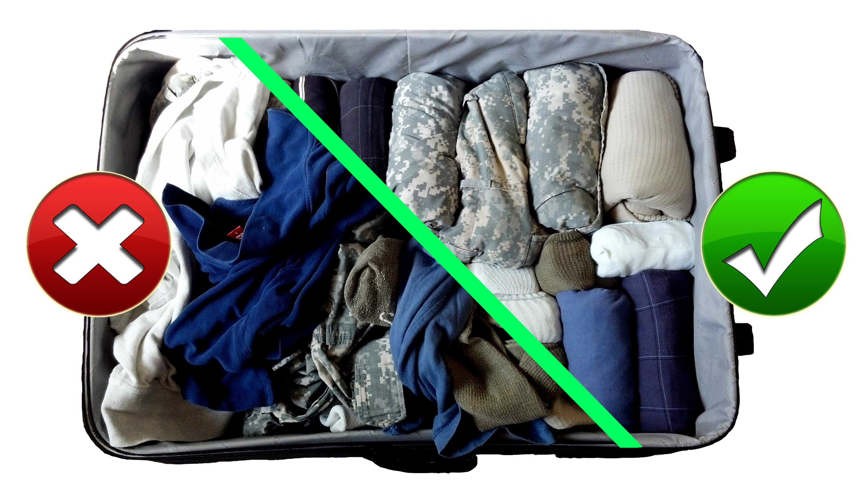 rolling method for storing clothes