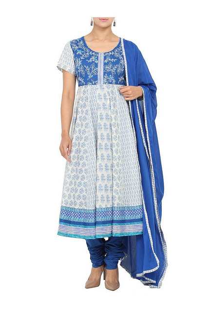 office wear anarkali suit